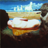 Manancial Dormido - Painting,  47.2x47.2 in, ©2006 by Pascal Roy -