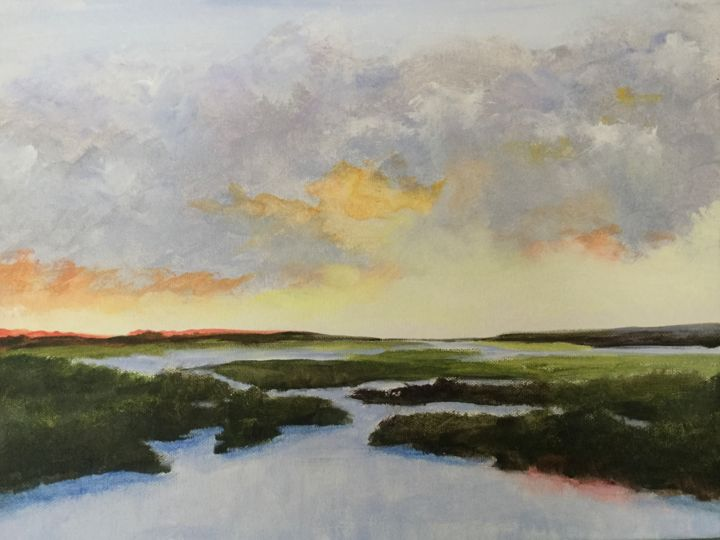 Awakening 12x16 in. - Painting,  12x16x3 in, ©2020 by Pam Carlson -                                                                                                                                                                          Classicism, classicism-933, Landscape