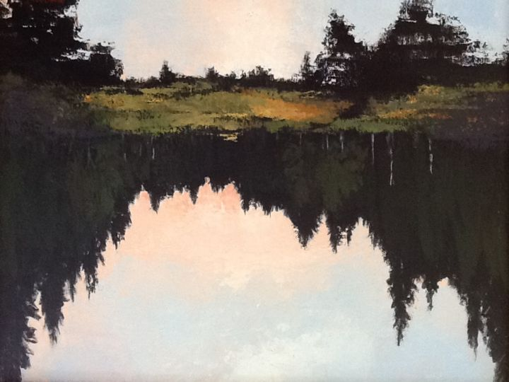 favorite-fishing-place.jpg - Painting, ©2015 by Pam Carlson -