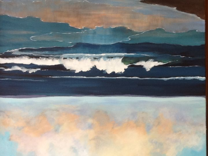 griswold-beach-waves-1.jpg - Painting, ©2015 by Pam Carlson -