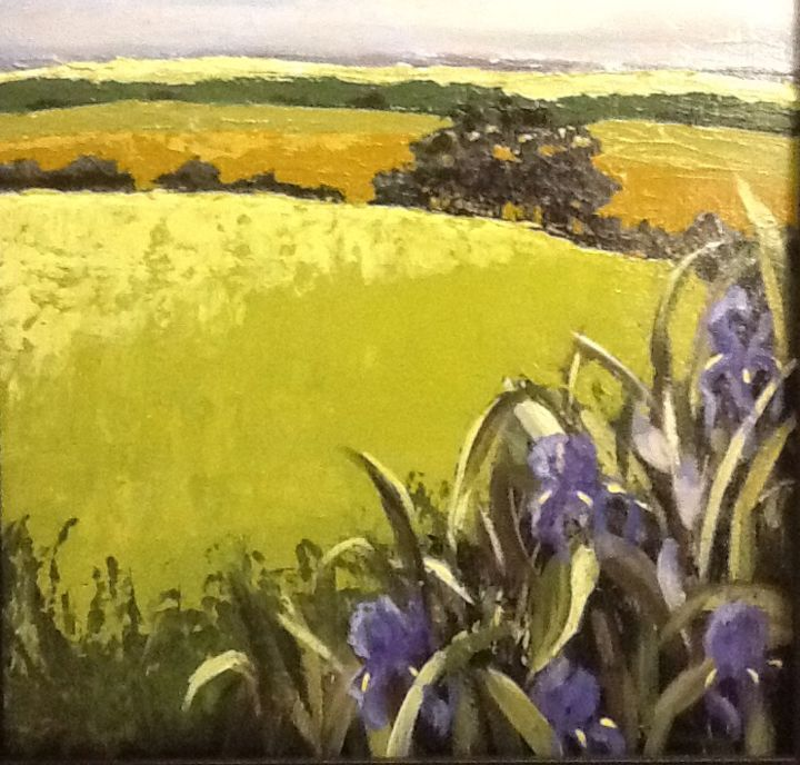iris-in-the-hills.jpg - Painting ©2015 by Pam Carlson -