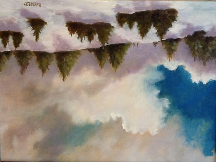perfect-trees-1.jpg - Painting, ©2015 by Pam Carlson -