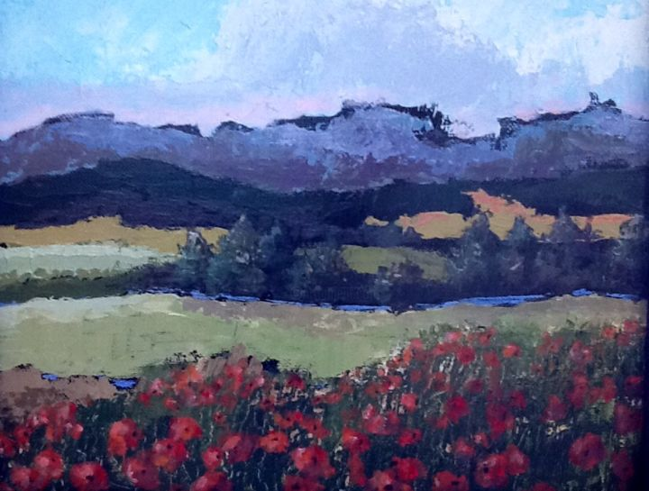 poppies-on-view.jpg - Painting, ©2015 by Pam Carlson -
