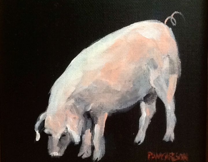 this-little-piggy.jpg - Painting, ©2015 by Pam Carlson -