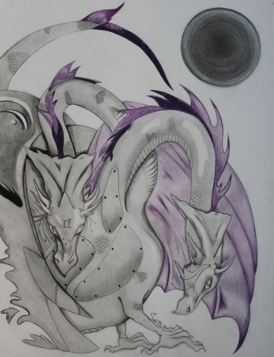 Dragons - ©  dragon, violet, purple, gris, siamois, unique, dragoon Online Artworks