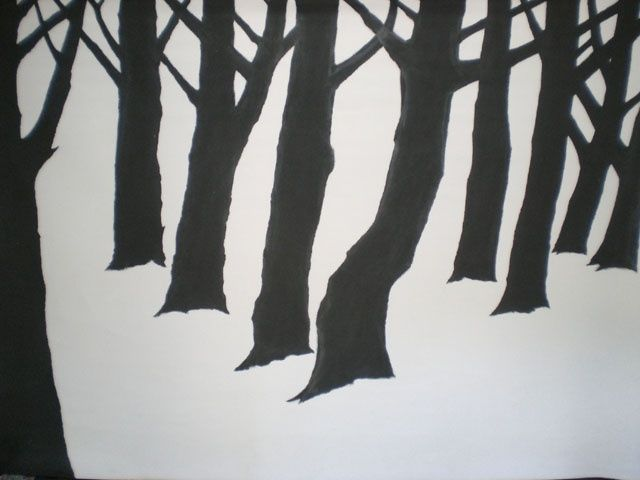 CIMG0789-1.JPG - Painting,  210x150 cm ©2009 by patrick desombre -                            Contemporary painting, arbres