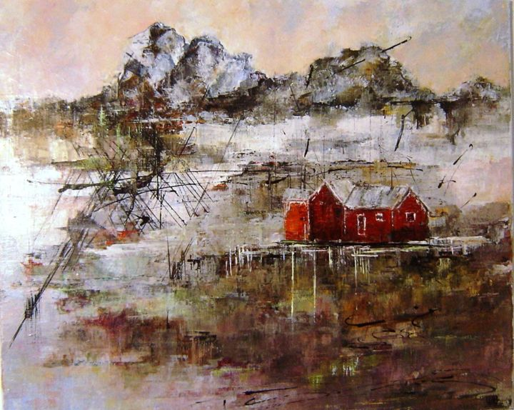 """Painting titled """"chaud-et-froid.jpg"""" by Patricia Alfred, Original Art, Oil"""