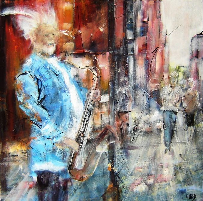 """Painting titled """"jazzy.jpg"""" by Patricia Alfred, Original Art,"""