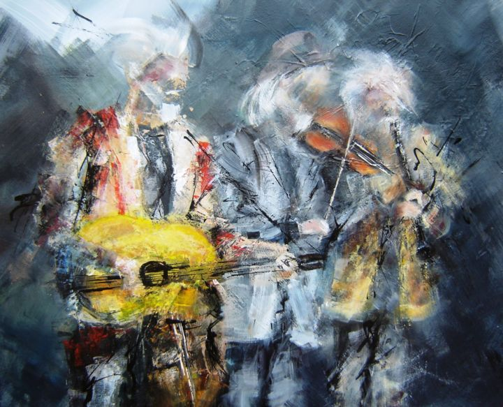 """Painting titled """"rock-stars.jpg"""" by Patricia Alfred, Original Art,"""