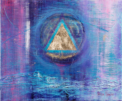 sacred triangle - Painting,  100x120 cm ©2007 by Patricia Queritet -