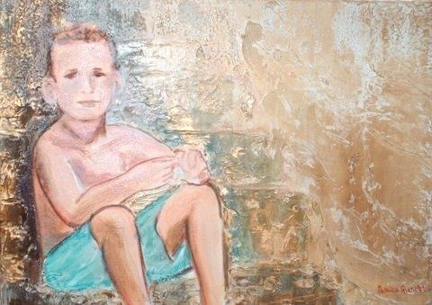 christian - Painting, ©2007 by Patricia Queritet -