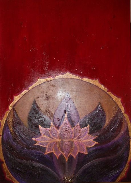 Temple Energy - Painting,  55.1x39.4 in, ©2010 by Patricia Queritet -