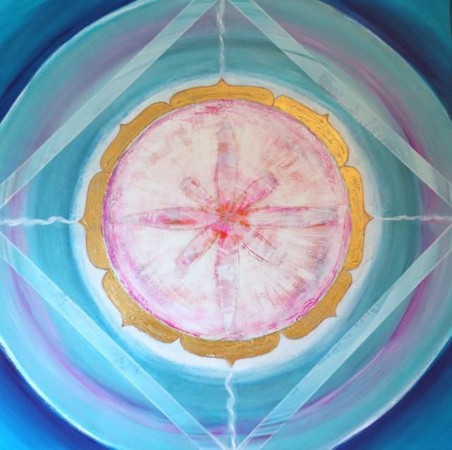 Healing - Painting,  100x100 cm ©2011 by Patricia Queritet -