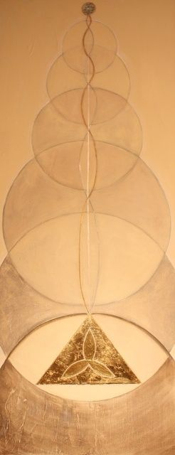 Kundalini - Painting,  180x50 cm ©2011 by Patricia Queritet -