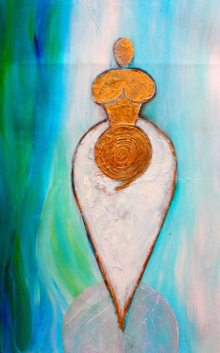 mother earth - Painting ©2012 by Patricia Queritet -