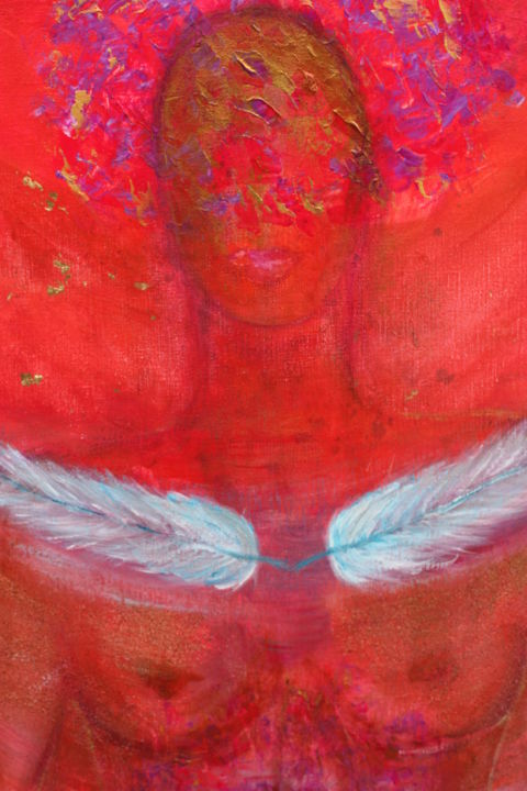 kundalini awakening - Painting ©2013 by Patricia Queritet -                        Body