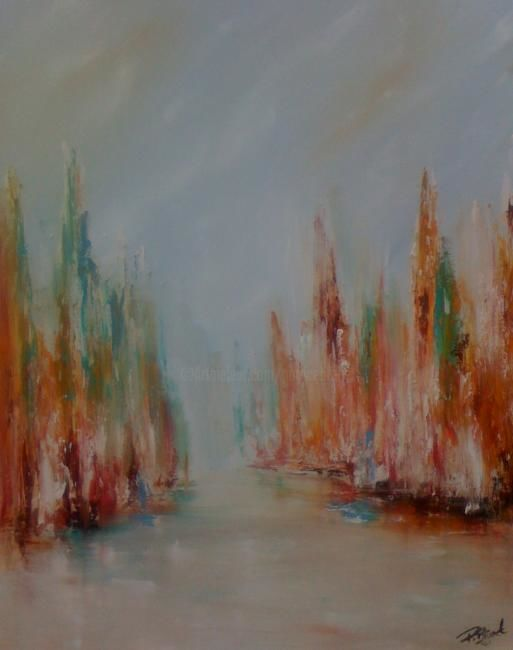 Le grand canal - Painting,  30x24 in ©2011 by Patrice Brunet -