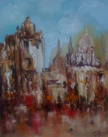 Rome - Painting,  30x24 in ©2011 by Patrice Brunet -