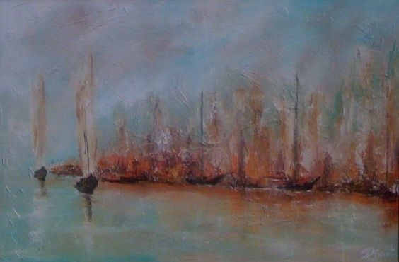 Concarneau - Painting,  40x60 in ©2011 by Patrice Brunet -