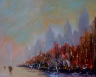 Paisible - Painting,  40x60 in ©2011 by Patrice Brunet -