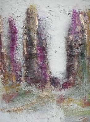 Richesse - Painting,  24x18 cm ©2013 by Patrice Brunet -                        Expressionism
