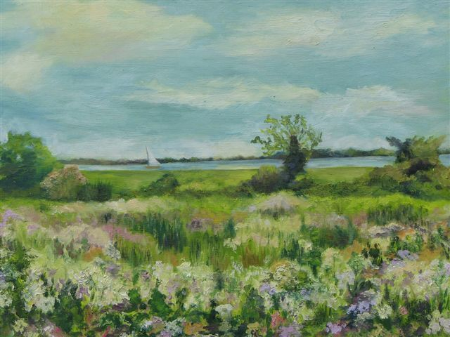 """Painting titled """"The Last Meadow"""" by Patricia Barone, Original Art, Oil"""