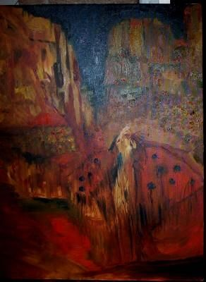 """Painting titled """"Calling the Spirits"""" by Patra Madden, Original Art,"""