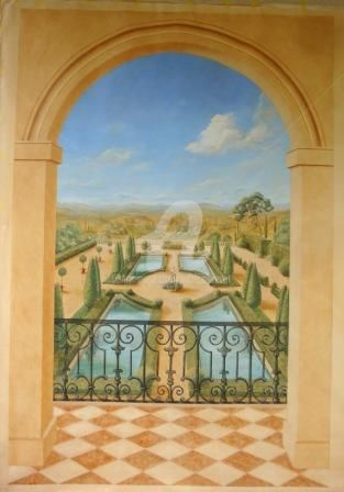 PANORAMIQUE - Painting ©2010 by Patricia PREVOT -