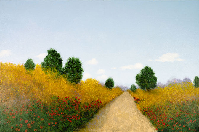 """Painting titled """"Tuscan Road"""" by Patrick Antonelle, Original Art, Oil"""
