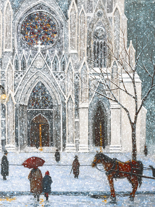 """Painting titled """"Sunday at St. Patri…"""" by Patrick Antonelle, Original Art, Oil"""