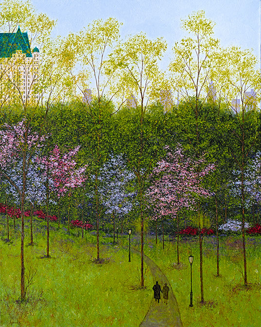 """Painting titled """"Spring in Central P…"""" by Patrick Antonelle, Original Art, Oil"""