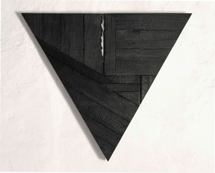 triangle-noir - Painting, ©2015 by shub -
