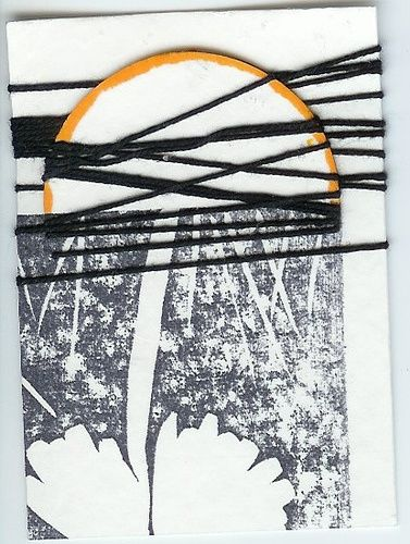 """Collages titled """"MOONTIED"""" by Patti Lorenzo-Encarnacion, Original Art,"""