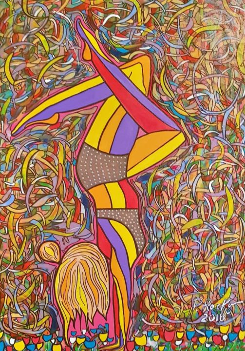 """Painting titled """"Equilíbrio"""" by P. Rocko, Original Art, Acrylic"""