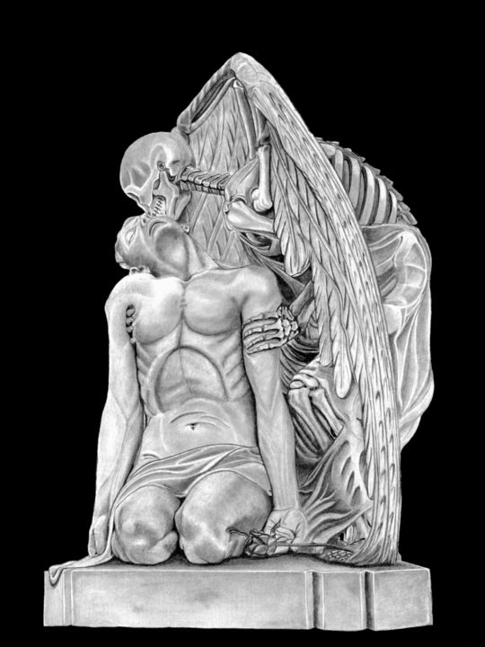 Gothic Drawing, graphite, classicism, artwork by Paul Stowe