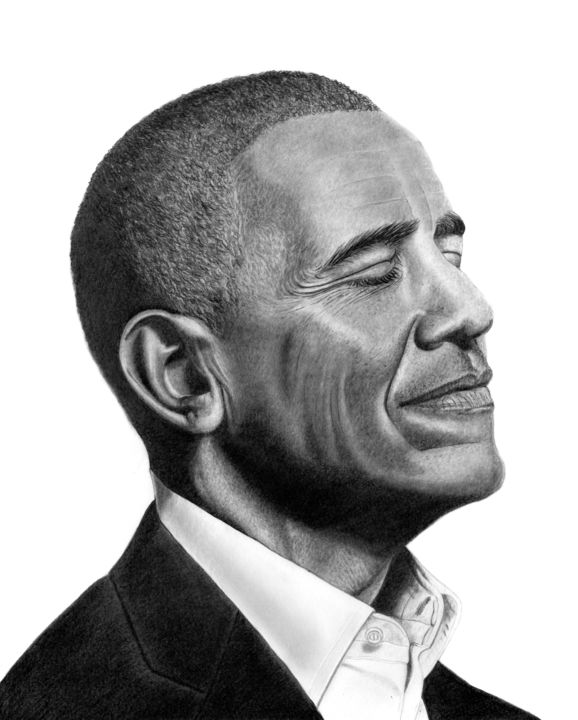 """Drawing titled """"Obama - A promised…"""" by Paul Stowe, Original Art, Graphite"""