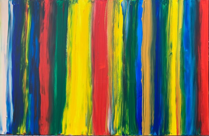 Gay is Happy ! - Peinture,  29,5x45,3x0,8 in, ©2019 par Paul Yves Poumay -                                                                                                                                                                                                                                                                                                                                                                                                                                                                                                                                                                                                                                                                                      Abstract, abstract-570, Coton, artwork_cat.Love/Romance, Art abstrait, Corps, Cosmos, artwork_cat.Colors, gay, lgbt, homo, lgbtqia, happy, couleurs