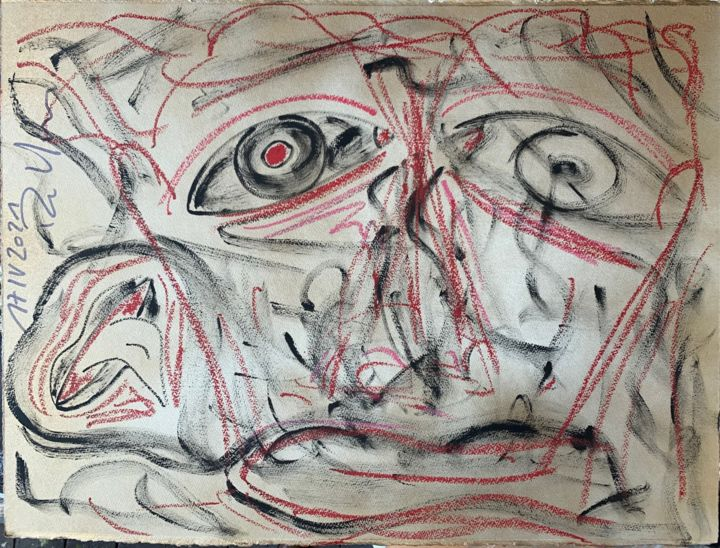 """Drawing titled """"untilted"""" by Paul Yves Poumay, Original Art, Pencil"""