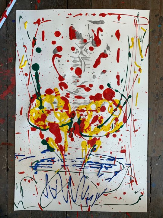 """Drawing titled """"untilted 2"""" by Paul Yves Poumay, Original Art, Acrylic"""