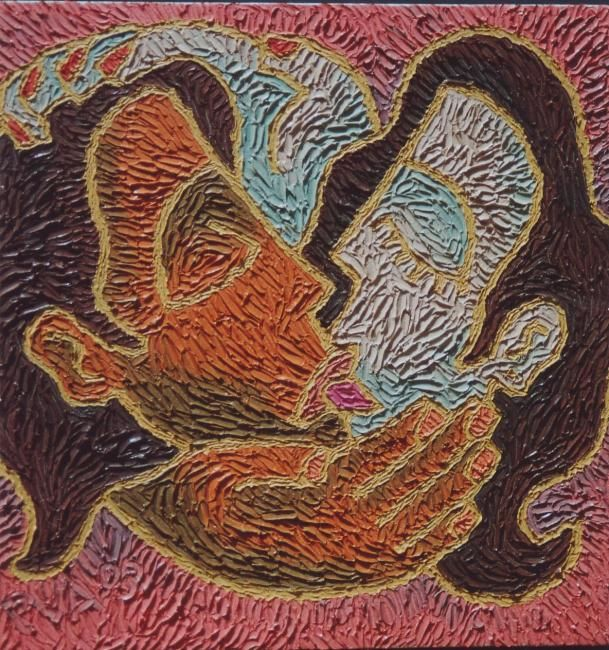 """Painting titled """"""""Soul to Squeeze I"""""""" by Paul Arenas, Original Art,"""