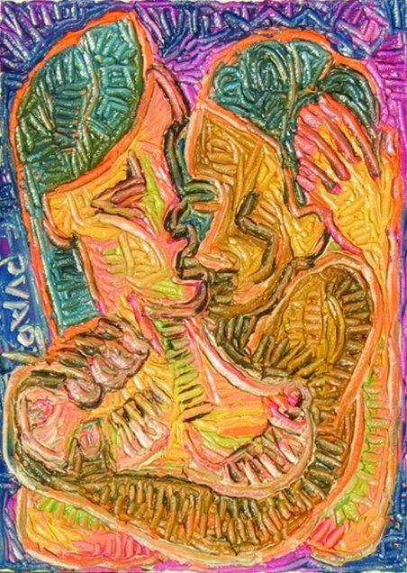 """Painting titled """"Chula I"""" by Paul Arenas, Original Art,"""