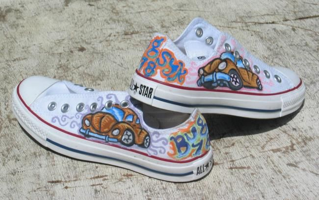 8652c888565a Painted Chucks - Mixed Media ©2008 by Paul Arenas -