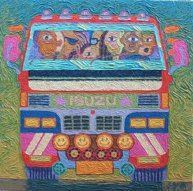 """Painting titled """"""""Eyes On the Road"""""""" by Paul Arenas, Original Art,"""