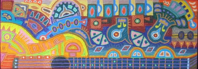 Untitled - Painting,  14x40 in ©2012 by Paul Arenas -
