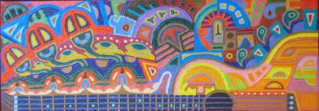 Painting,  14 x 40 in ©2012 by Paul Arenas -  Painting