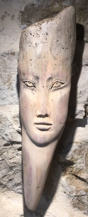 Visage - Sculpture,  44 cm ©2016 by Paul Crochat -