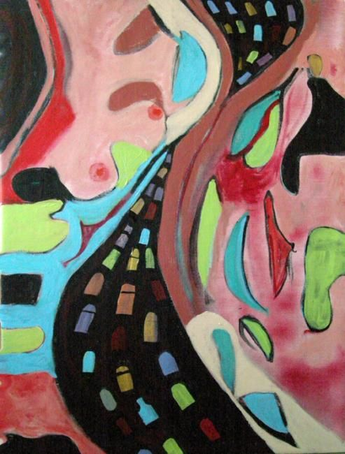 """Painting titled """"dreaming the 405"""" by Paul Freidin, Original Art, Oil"""