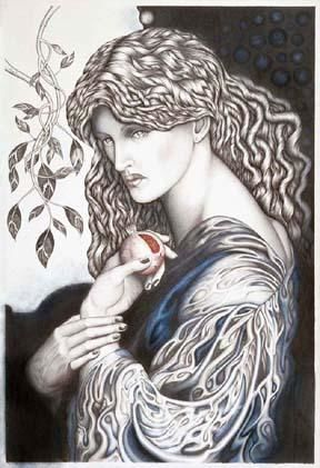 """Drawing titled """"Homage to Rossetti'…"""" by Paul Freeman, Original Art,"""