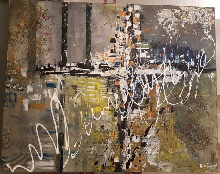 """Painting titled """"Industrial Chaos"""" by Paulo Fernandes, Original Art, Acrylic"""
