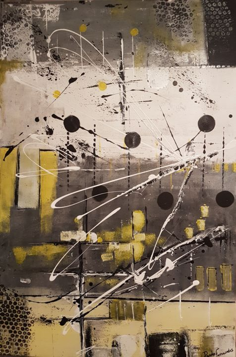 """Painting titled """"Industrial Sunshine"""" by Paulo Fernandes, Original Art, Acrylic"""